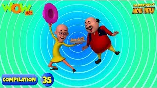 Motu Patlu - 6 episodes in 1 hour   3D Animation for kids   #35