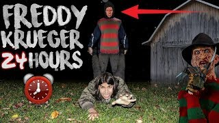 24 HOUR OVERNIGHT CHALLENGE IN FREDDY KRUEGERS HAUNTED HOUSE! | I GOT ATTACKED BY FREDDY KRUEGER!