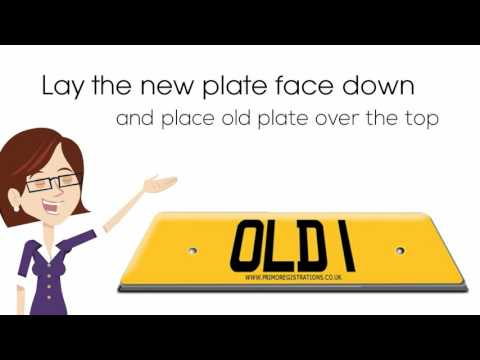 How to attach a number plate to a car – with screws