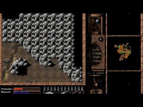 DOS Game: Cavewars