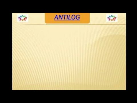 How to find antilogarithm of a number | negative number