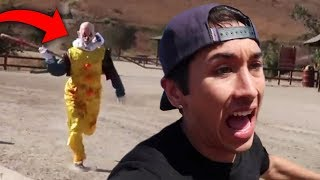 Top 5 Youtubers Who Were CHASED By KILLER CLOWNS! (Pennywise IT Clown & More)