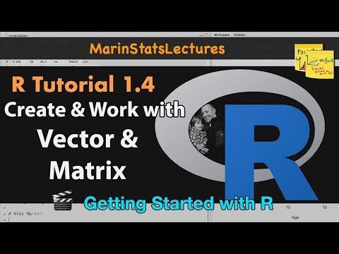 How to create Vectors, Matrices, and more in R (R Tutorial 1.4)