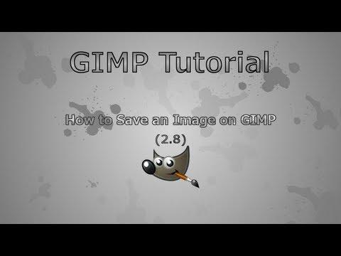 GIMP (2.8)- How to Save an Image
