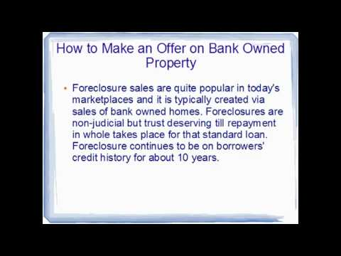 How to Make an Offer on Bank Owned Property