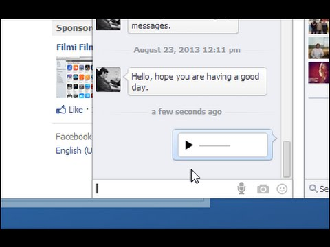 Facebook: how to send voice messages on Facebook from computer  and How to install it [New 2015]