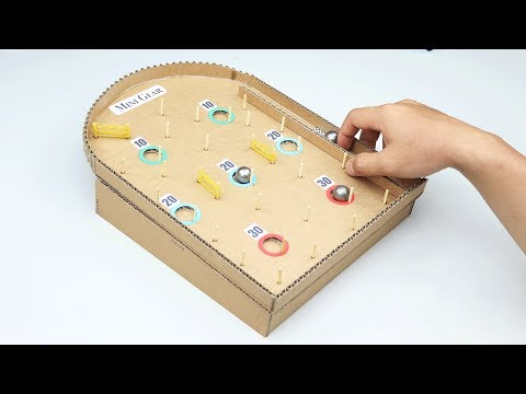 How to Make Cardboard Game with Steel Marble