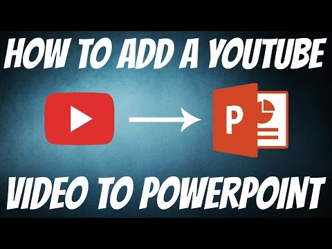 How To Add A YouTube Video To PowerPoint   FAST EASY   HD