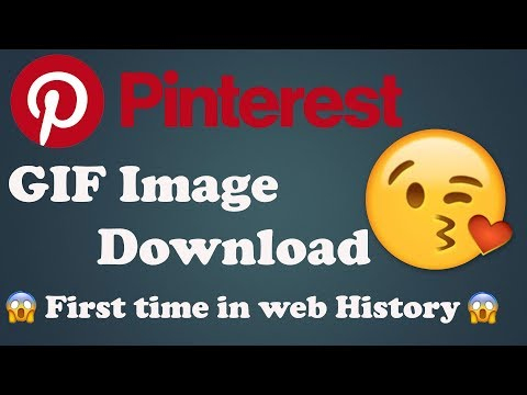 How To Download Pinterest GIF Image - First Time - YouTube
