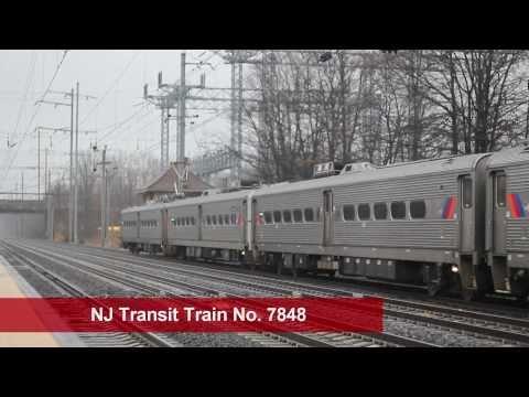 Amtrak & NJ Transit at Princeton Junction Station Rainy day