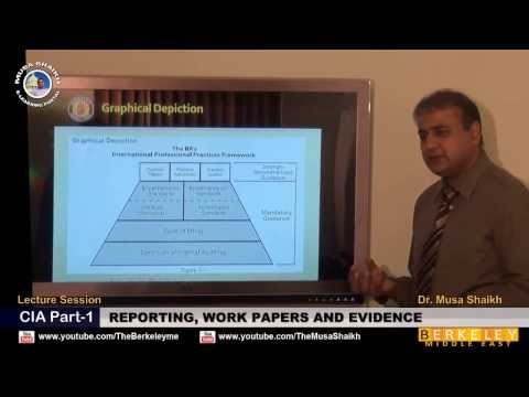 CIA Part-1 Reporting, Work Papers and Evidence - Dr. Musa Shaikh