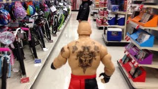 """WWE ACTION INSIDER: Brock Lesnar figure shopping at Target review wrestling aisle """"grims toy show"""""""