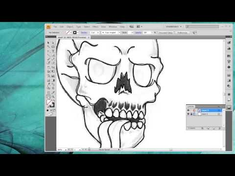 How to convert a drawing into vector art inside Adobe Illustrator