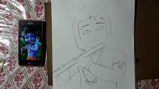 How to Draw Lord Krishna Pencil Drawing for Beginners Step by Step