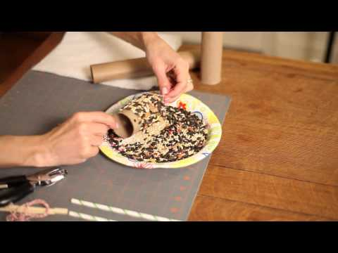 How to Make a Bird Feeder With Paper Plates & Roll Paper : Crafty Days