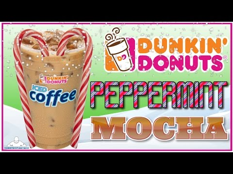 DUNKIN DONUTS®   PEPPERMINT MOCHA ICED COFFEE REVIEW   THEENDORSEMENT