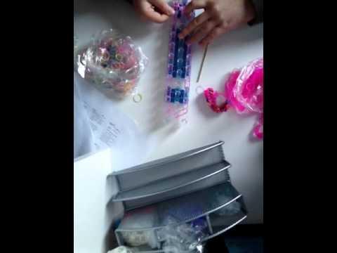 How to make a rainbow loom bow tie bracelet