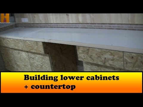 Building lower cabinets + countertop