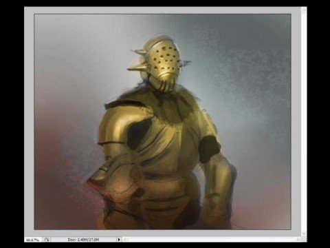 How to draw and paint Gold color Armor Art tutorial.