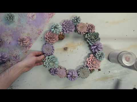 Crafty Creative: Spring Pinecone Wreath