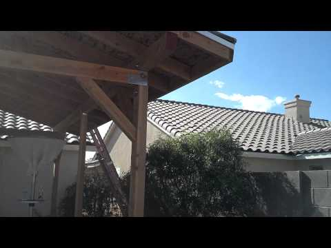How to build a patio cover pt#2