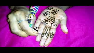 Vat Purnima Special Flower Full Hands Mehndi Design