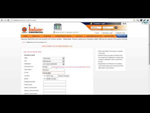 Online LPG Account Registration