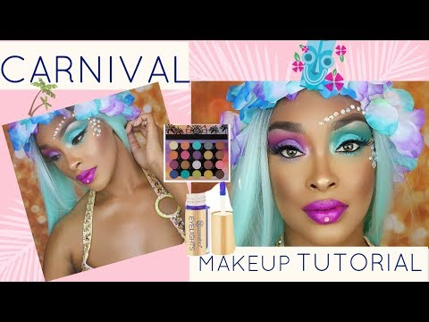 Fun & Colorful Carnival/Festival Makeup Using BH Cosmetics Weekend Festival Palette/Eyelights!