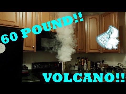 60 POUND DRY ICE VOLCANO!!! (Dry Ice Experiment) ~KillaKellz~