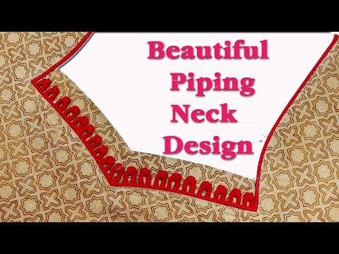 Latest Piping neck design DIY hindi