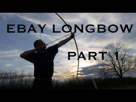 eBay Longbow. Part One. A beginner bowyer buys a laminated longbow-style stave on eBay. Langbogen