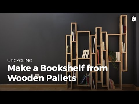Make Bookshelf from Wooden Pallets | Upcycling