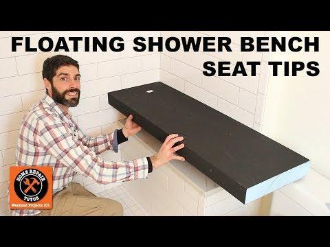 Floating Shower Bench Seat...Wedi Sanoasa Kit (Quick Tips)