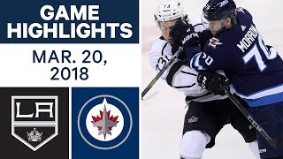 NHL Game Highlights | Kings vs. Jets - Mar. 20, 2018