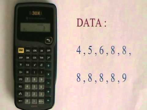 Basic Statistics Operations on the TI-30XA