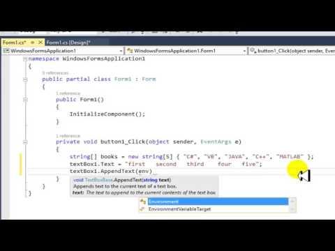Tutorial C# Windows Form Application Array String 1_ D in Kurdish