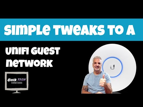 How To Make Simple Tweaks To A Unifi Guest Wifi