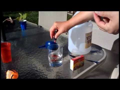 Easy Volcano Project with Kids - Baking Soda, Vinegar, Food Coloring; Home School Science Project!