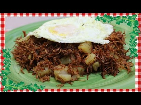 Tasty Homemade Corned Beef Hash~St Patrick's Day~Quick Budget Leftover Recipe~Noreen's Kitchen