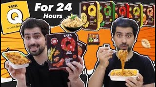 I only ate TATA Q Ready To Eat Products for 24 HOURS || Food Challenge