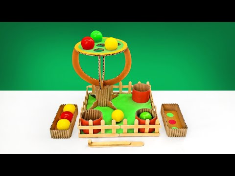 How To Make Apple Pop Board Game From Cardboard For Kids