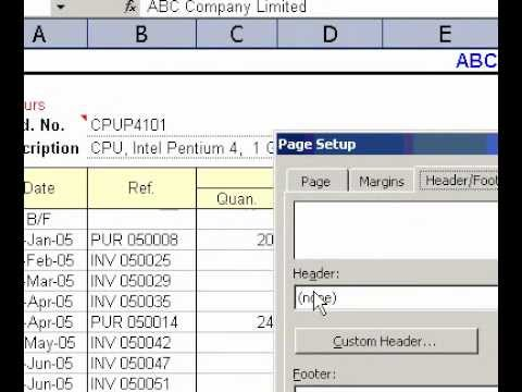 Microsoft Office Excel 2003 Change the font in header and footer text
