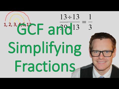 Using Greatest Common Factor to Simplify Fractions