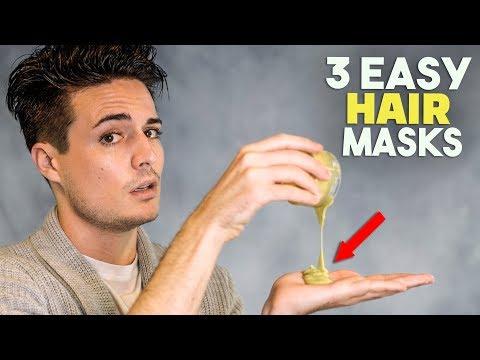3 Easy DIY Hair Masks For Soft Healthy Hair   Men's Hairstyle   BluMaan 2018