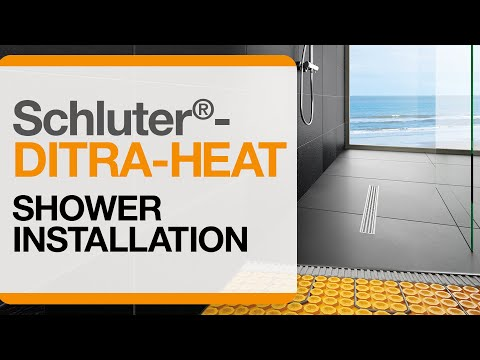 How to install DITRA-HEAT electric floor warming in a shower