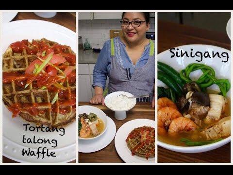 SINIGANG NA BABOY AT HIPON (Pork and Shrimp Sour Soup) with Tortang Talong