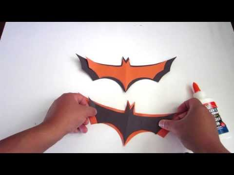 How to Make Easy Halloween Bats Out of Paper - Lana3LW