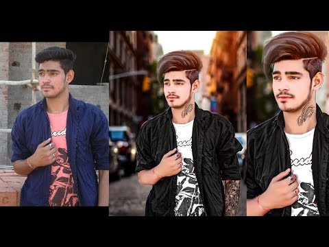 Stylish Look Editing | Hair style and Cloth colour change in photshop | background change Fast |