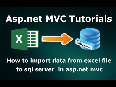 How to import data from excel file to sql server database in asp.net mvc