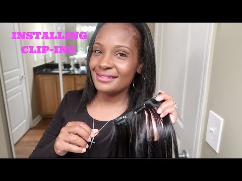 INSTALLING CLIP-INS FOR NATURAL FULLER LOOKING HAIR